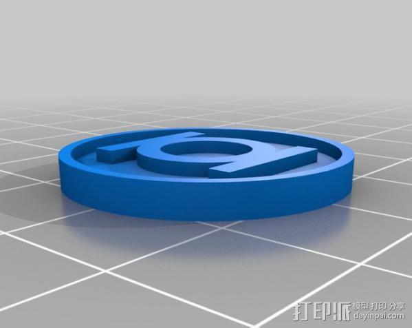电影《绿灯侠》标志 3D模型  图2