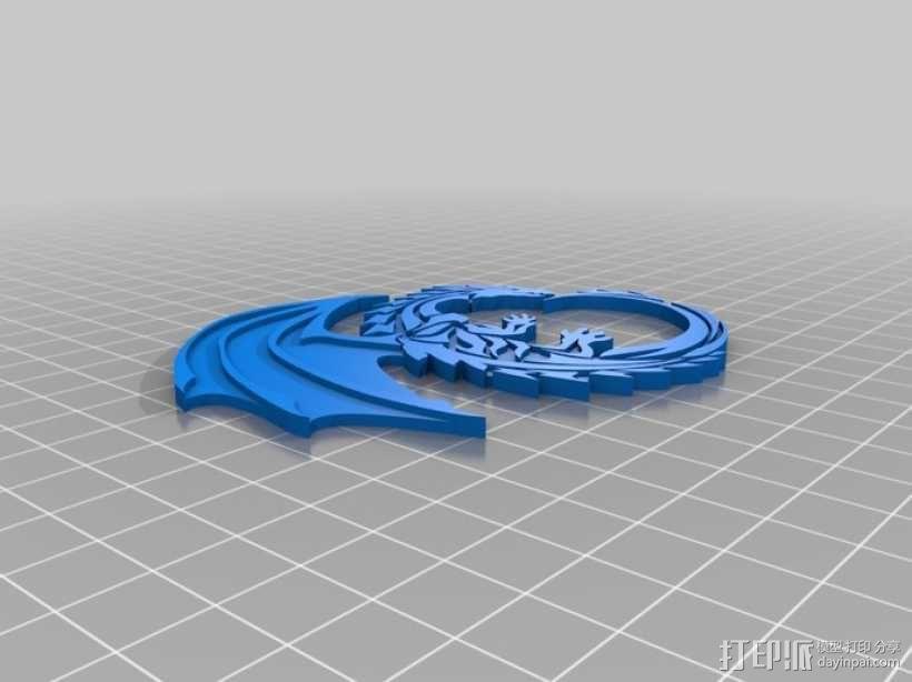 黑白龙 3D模型  图2
