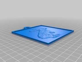 兔子 浮雕 3D模型