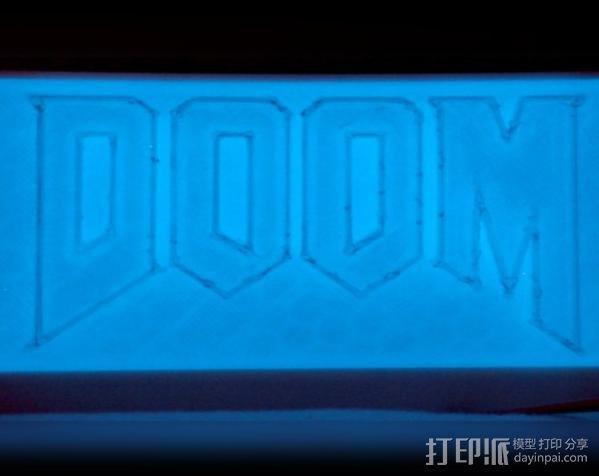DooM 床头灯 3D模型  图1