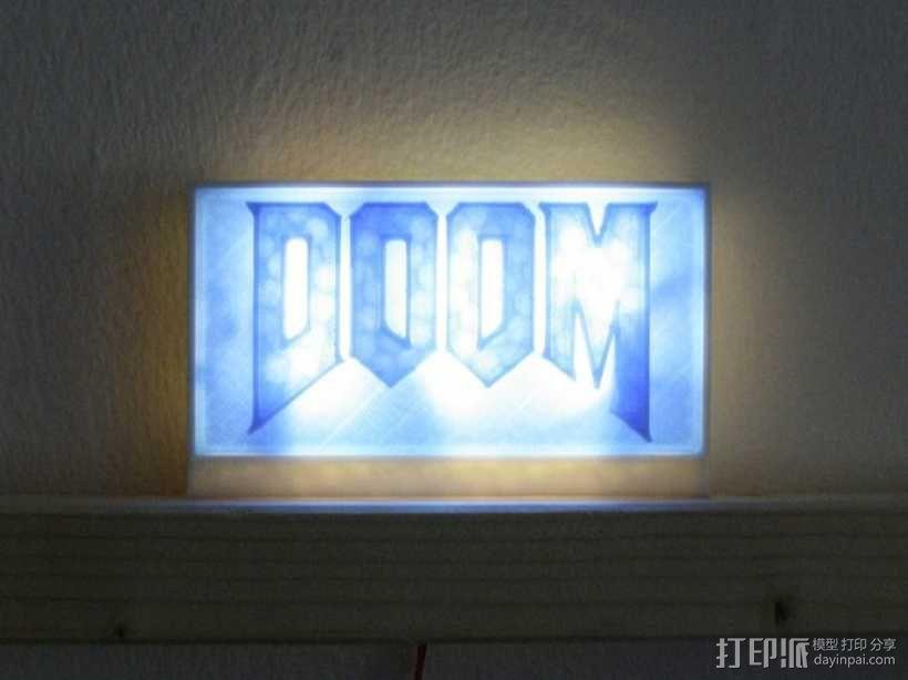DooM 床头灯 3D模型  图2