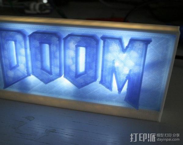 DooM 床头灯 3D模型  图3