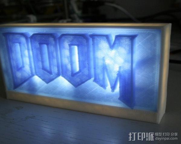 DooM 床头灯 3D模型  图8