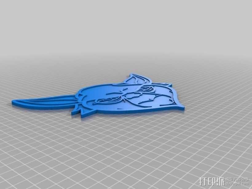 尤达大师 标签 3D模型  图2