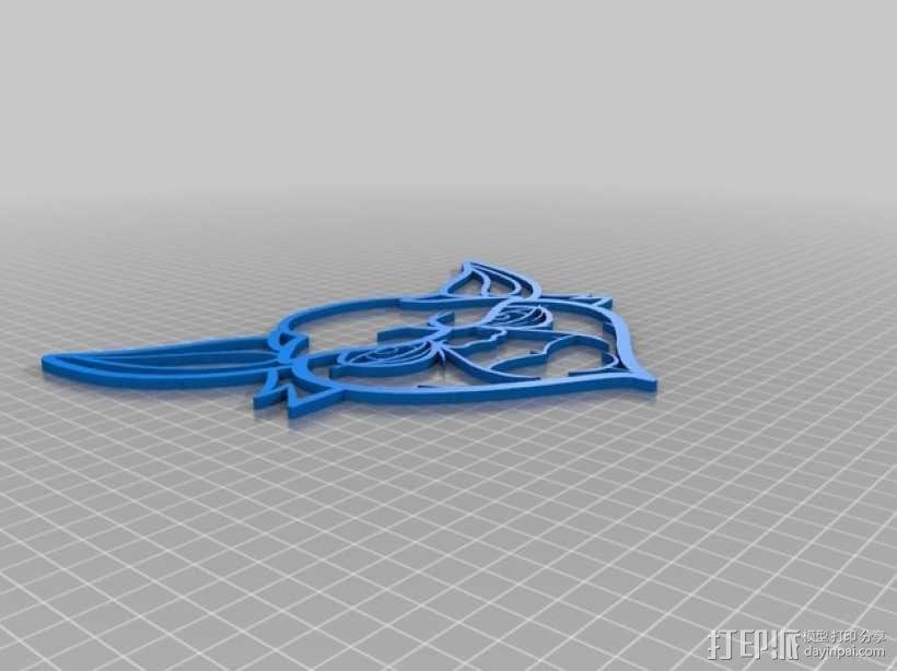 尤达大师 标签 3D模型  图3
