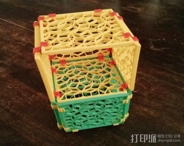 彭罗斯点阵 篮子 3D模型  图2