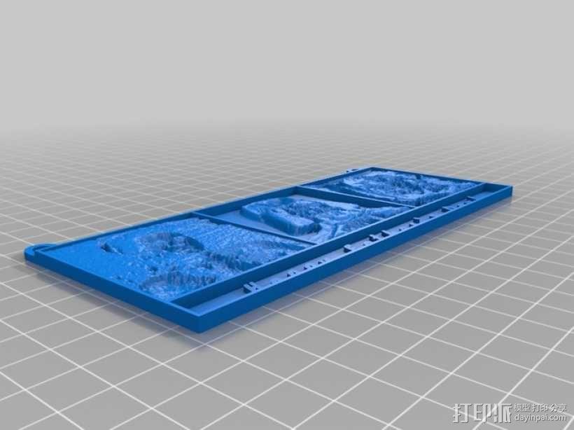 父亲节 黑武士 浮雕 3D模型  图2