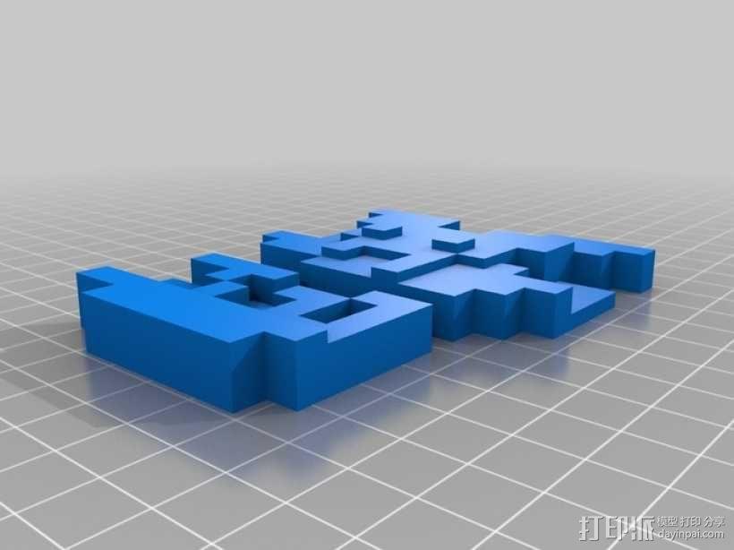 8bits 马里奥 3D模型  图1