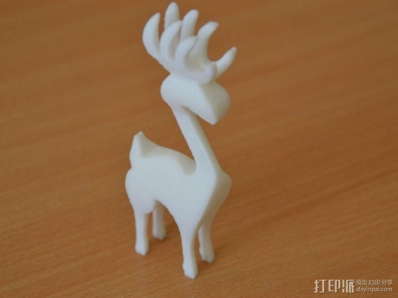 麋鹿 3D模型  图1