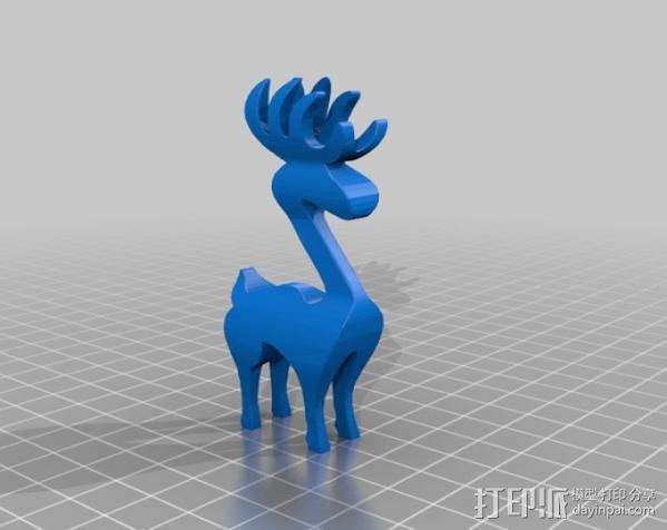 麋鹿 3D模型  图2