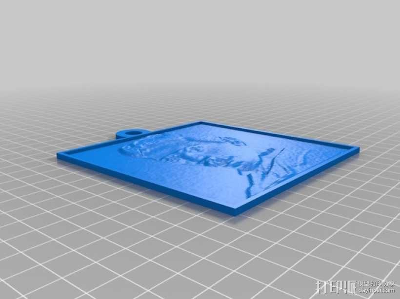 特斯拉 头像 3D模型  图2