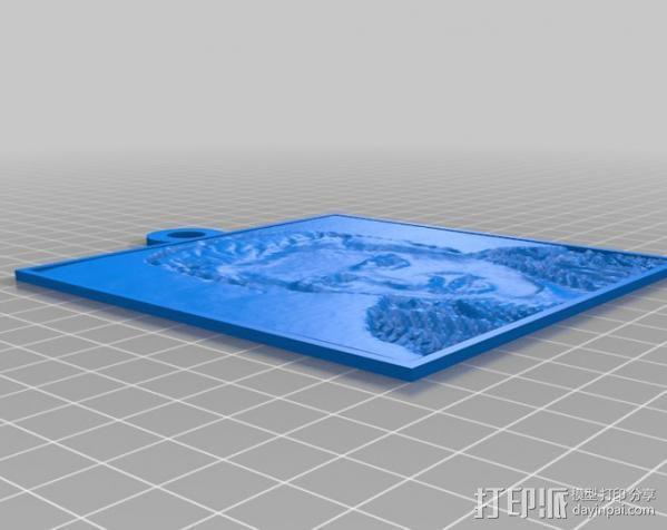 Elvis人像浮雕 3D模型  图1