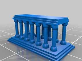 希腊神庙 3D模型