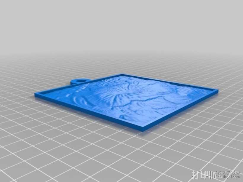 花 浮雕 3D模型  图1