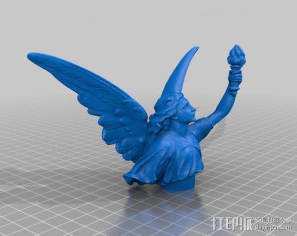 露西 塑像 3D模型  图2