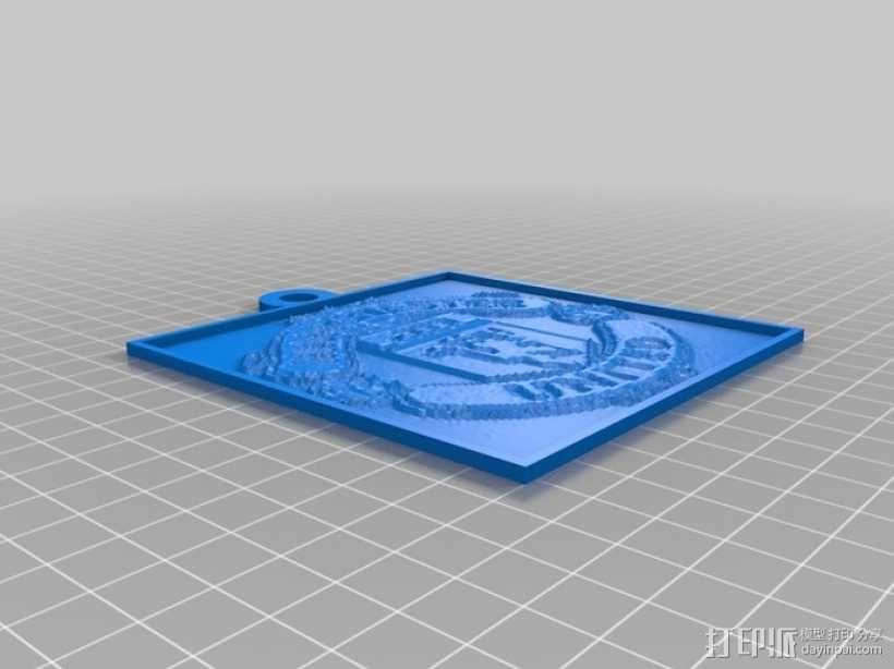 曼彻斯特联足球俱乐部 浮雕 3D模型  图1