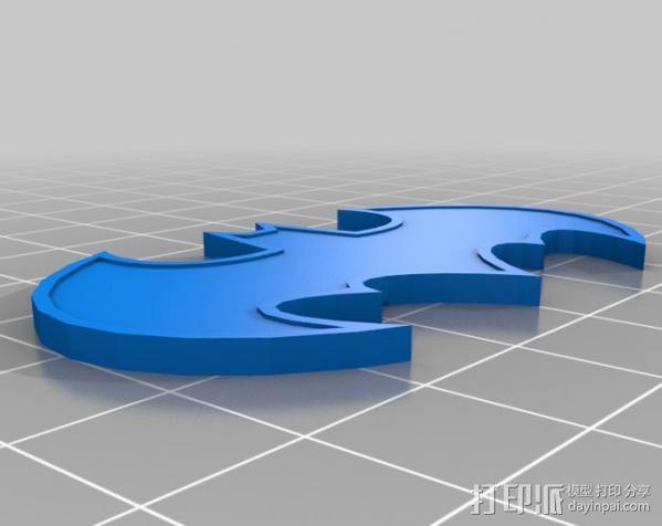 蝙蝠侠 冰箱贴 3D模型  图2