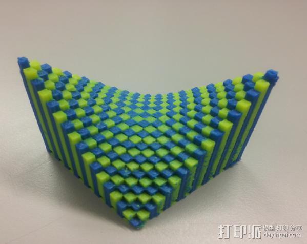 离散双曲抛物面 3D模型  图2