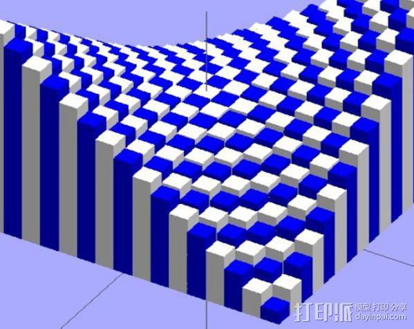离散双曲抛物面 3D模型  图3