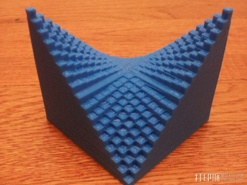 离散双曲抛物面 3D模型  图1
