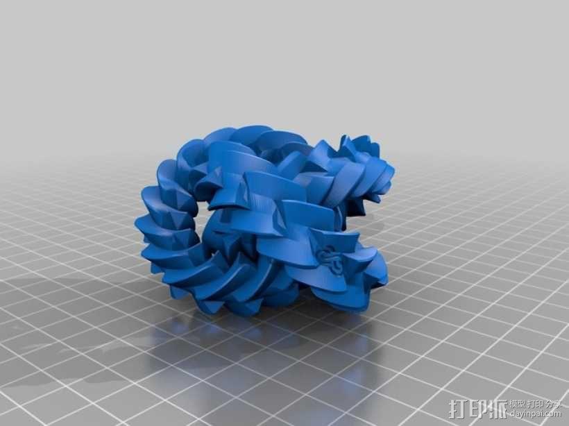 三联齿轮  3D模型  图1