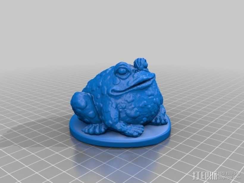 睡莲叶子上的蟾蜍 3D模型  图2