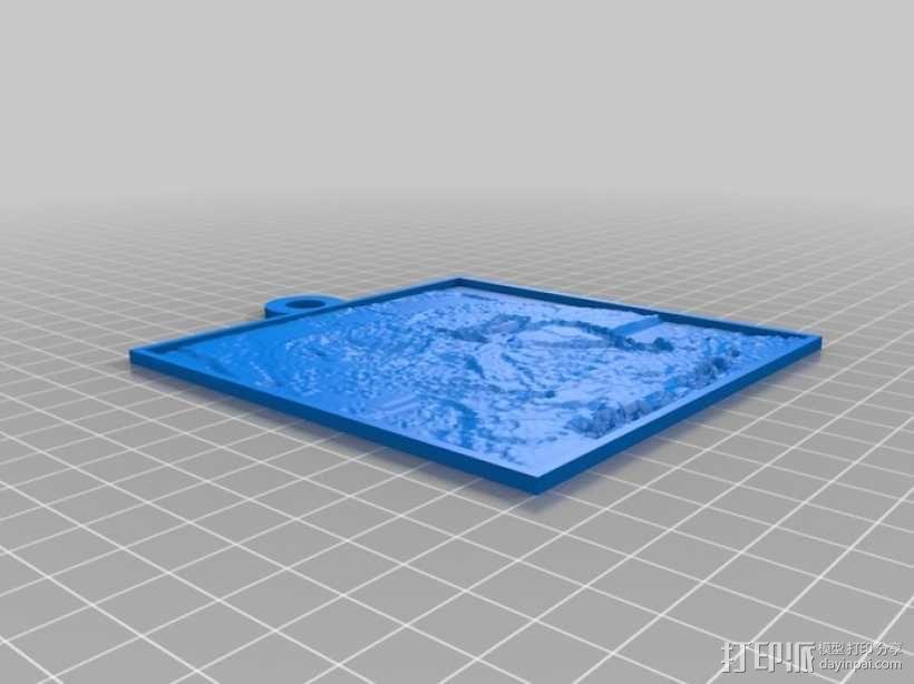 黑武士 浮雕 3D模型  图2