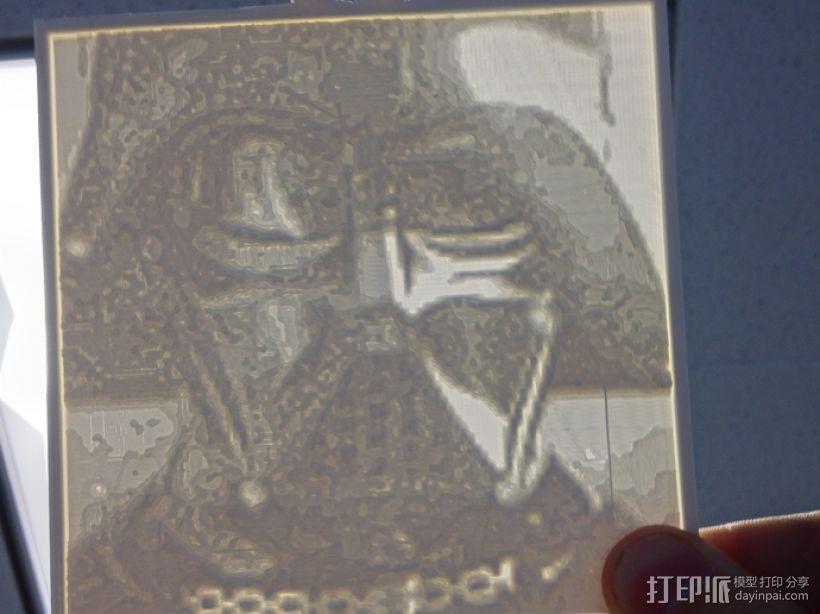 黑武士 浮雕 3D模型  图1