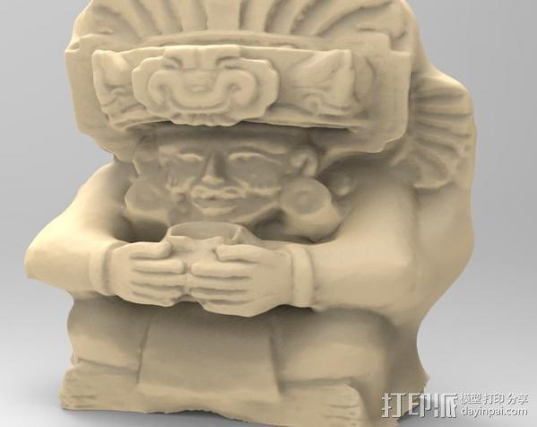 观赏陶瓷翁的萨波特克人 3D模型  图1