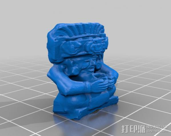 观赏陶瓷翁的萨波特克人 3D模型  图3