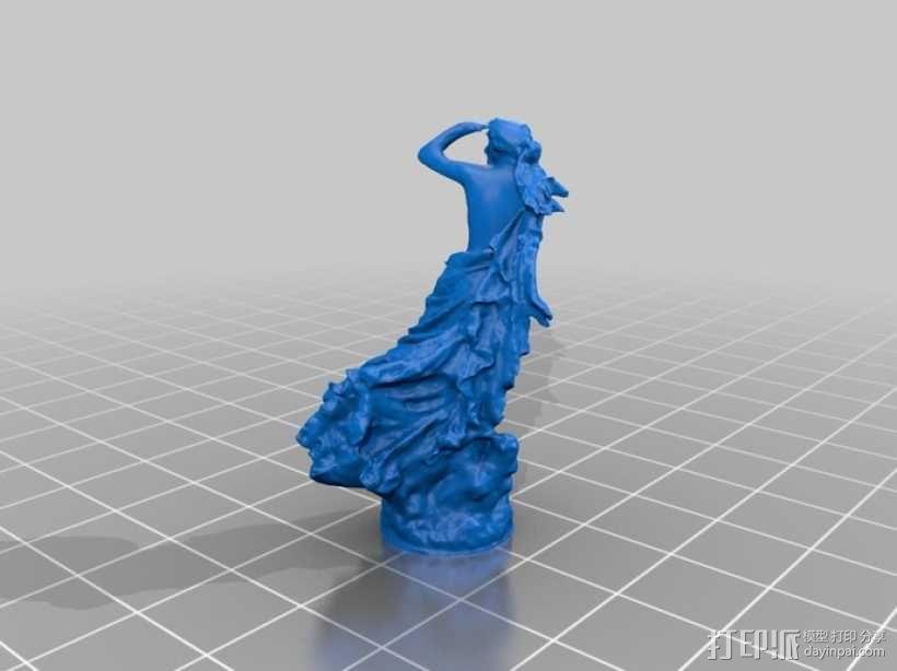 迷失的仙女 雕塑 3D模型  图1