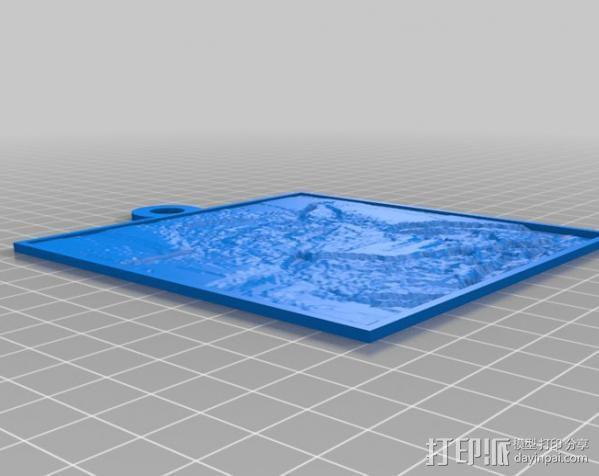 尤达大师 浮雕 3D模型  图2