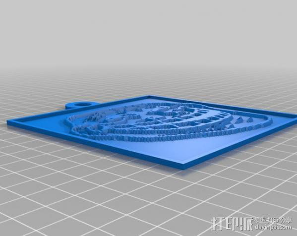 Trollface 浮雕 3D模型  图2