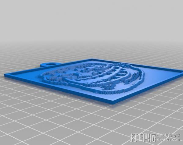 Trollface 浮雕 3D模型  图3