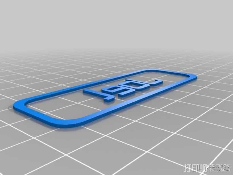 定制化胸牌 3D模型  图3