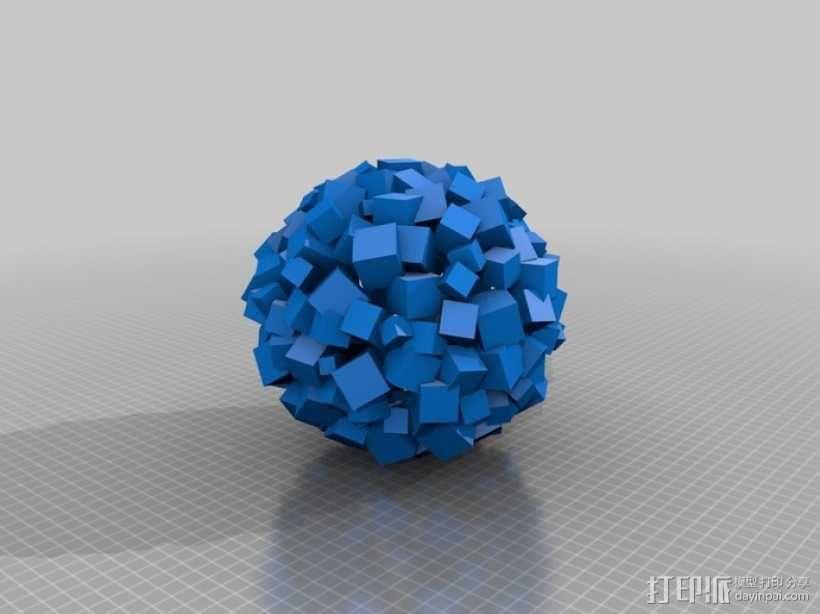 立方体 圆球 3D模型  图2