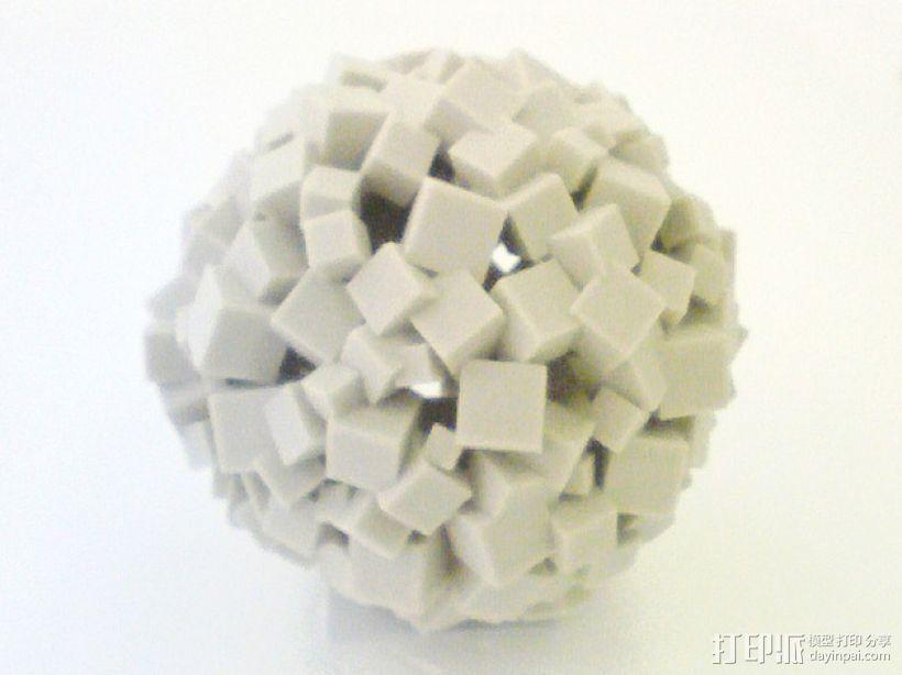 立方体 圆球 3D模型  图1
