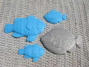 小鱼 饰板  3D模型