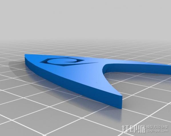 《星际迷航》 标志 3D模型  图2