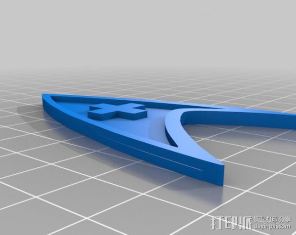 《星际迷航》 标志 3D模型  图8