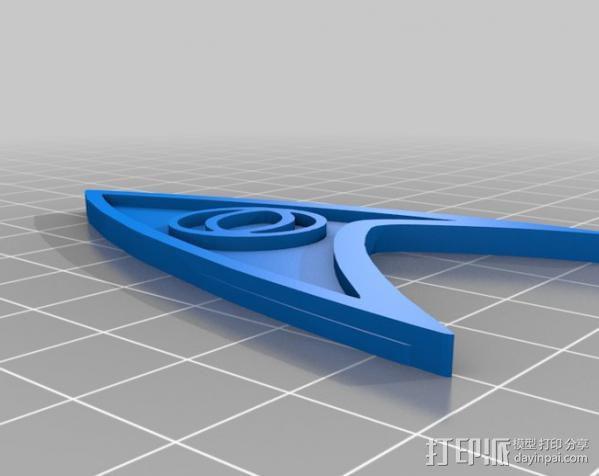 《星际迷航》 标志 3D模型  图6
