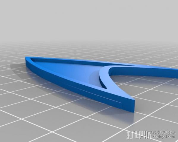 《星际迷航》 标志 3D模型  图7