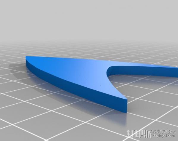 《星际迷航》 标志 3D模型  图9