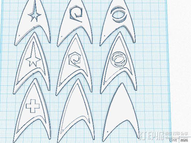 《星际迷航》 标志 3D模型  图10