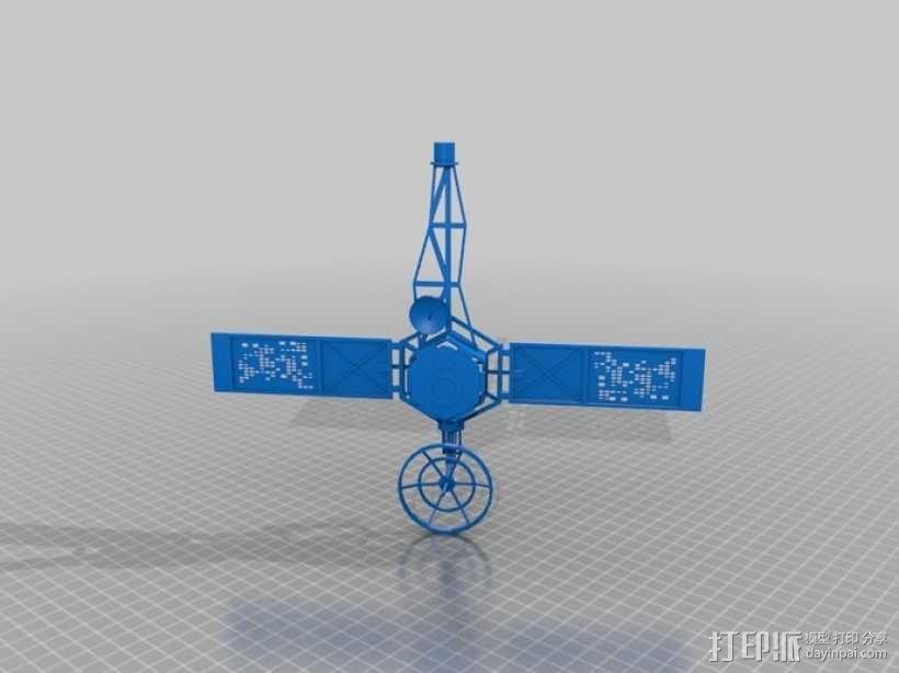 水手4号探测器 3D模型  图1