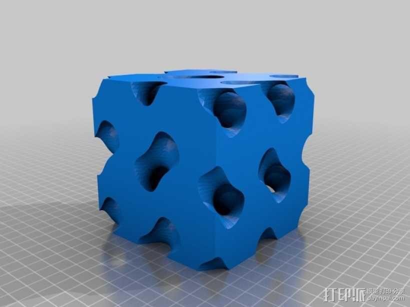 螺旋六面体 3D模型  图1