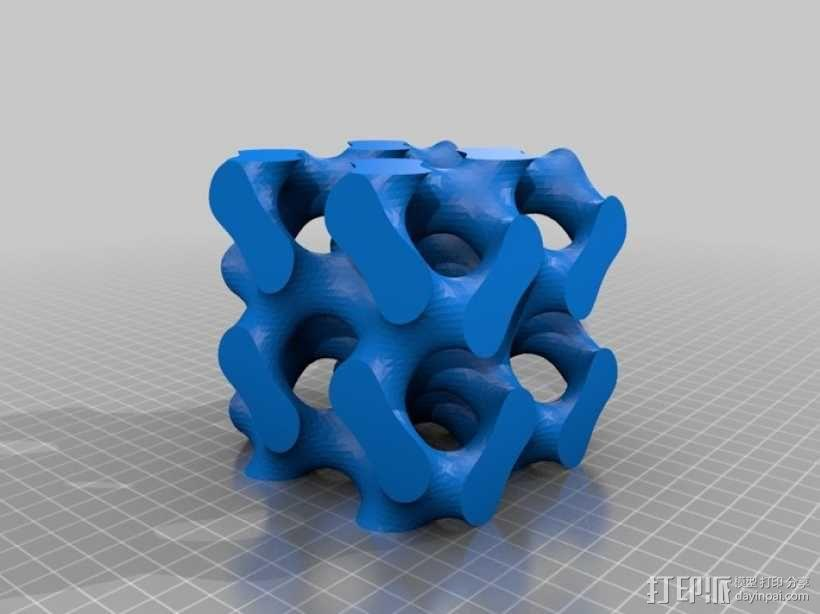 螺旋六面体 3D模型  图2