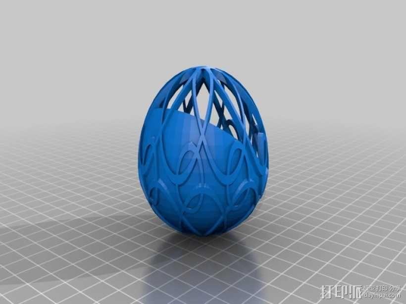 定制化复活节艺术蛋 3D模型  图1