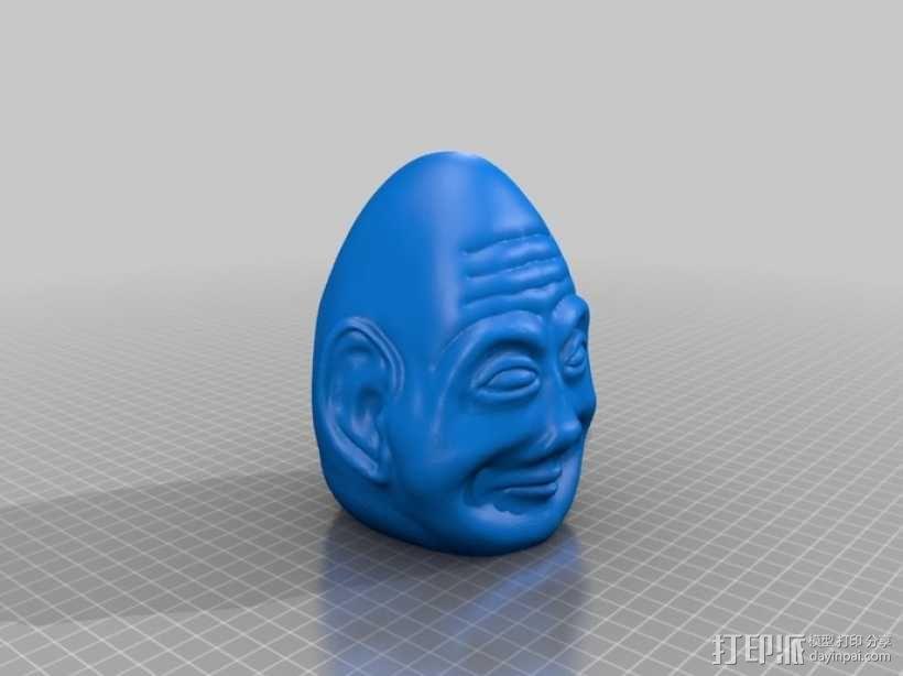 复活节彩蛋 长者头像 3D模型  图1
