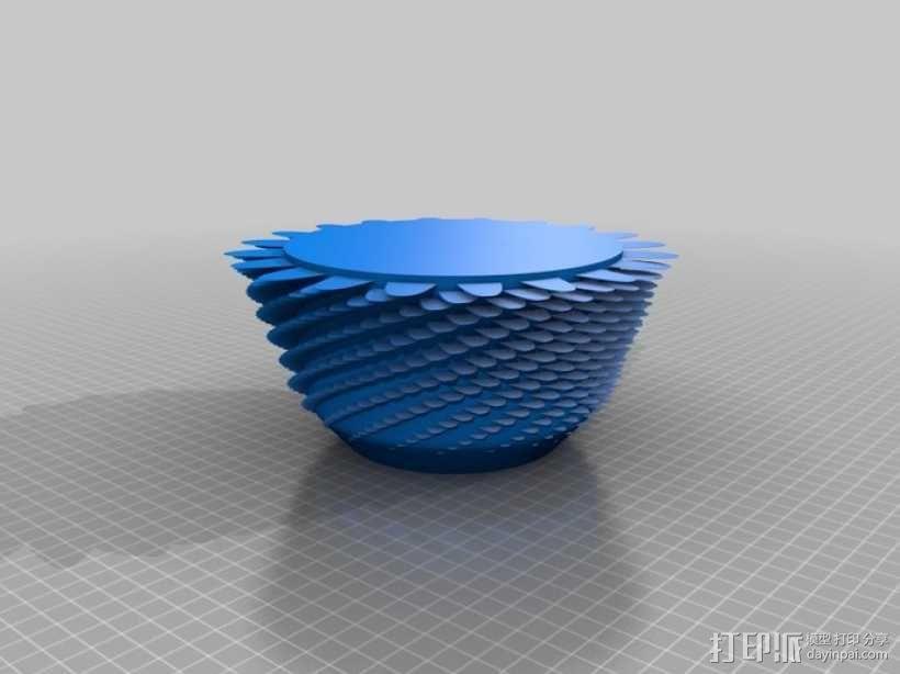 绒线花瓶 3D模型  图1
